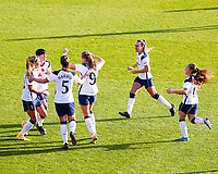 Ashleigh Neville of Tottenham celebrates scoring with teammates during Tottenham Hotspur Women vs Reading FC Women, Barclays FA Women's Super League Football at the Hive Stadium on 7th November 2020