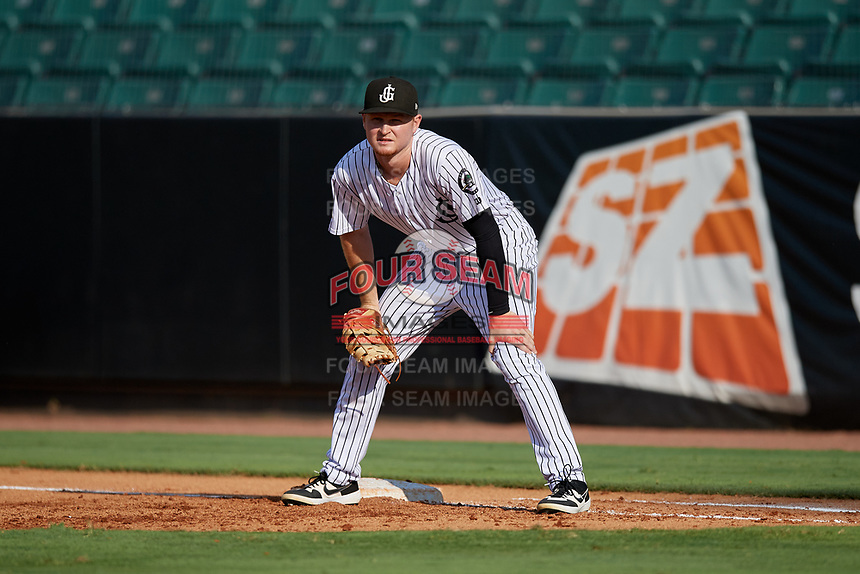 Jackson Generals first baseman Pavin Smith (13) during a Southern League game against the Mississippi Braves on July 23, 2019 at The Ballpark at Jackson in Jackson, Tennessee.  Jackson defeated Mississippi 2-0 in the first game of a doubleheader.  (Mike Janes/Four Seam Images)