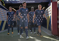 Santa Clara, CA - Wednesday July 26, 2017: Chris Pontius, Jordan Morris, USMNT during the 2017 Gold Cup Final Championship match between the men's national teams of the United States (USA) and Jamaica (JAM) at Levi's Stadium.
