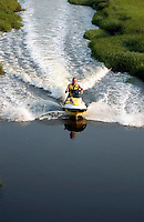 Jet ski in tidal tribtary in Massechusetts