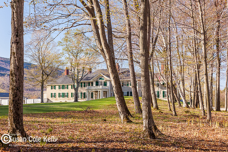 Springtime at Hildene, the home of Robert Todd Lincoln, in Manchester, VT, USAVT, USA