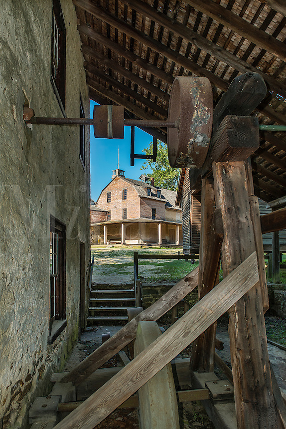 Grist Mill and Post office, Historic Batsto Village, Wharton State Park, Pine Barrens, New Jersey, USA