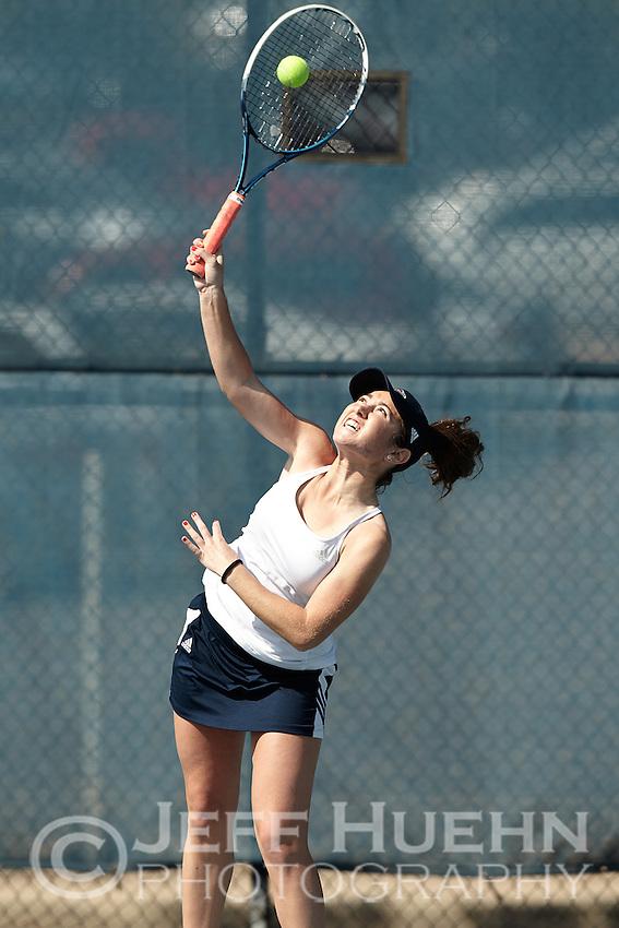 SAN ANTONIO, TX - FEBRUARY 13, 2015: The University of South Alabama Jaguars defeat the University of Texas at San Antonio Roadrunners 5-2 at the UTSA Tennis Center. (Photo by Jeff Huehn)