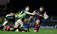 20th December 2020; The Sportsground, Galway, Connacht, Ireland; European Champions Cup Rugby, Connacht versus Bristol Bears; Caolin Blade plays the ball away for Connacht