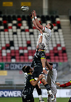 2nd January 2021 | Ulster vs Munster <br /> <br /> Kieran Traedwell during the PRO14 Round 10 clash between Ulster Rugby and Munster Rugby at the Kingspan Stadium, Ravenhill Park, Belfast, Northern Ireland. Photo by John Dickson/Dicksondigital