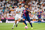 Luis Suarez (r) of FC Barcelona fights for the ball with Raphael Varane of Real Madrid  during their Supercopa de Espana Final 2nd Leg match between Real Madrid and FC Barcelona at the Estadio Santiago Bernabeu on 16 August 2017 in Madrid, Spain. Photo by Diego Gonzalez Souto / Power Sport Images