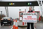 Ken Helay Tolls protest 2013