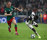 Football Soccer: UEFA Champions League -Group Stage-  Group D - Juventus vs Lokomotiv Moskva, Allianz Stadium. Turin, Italy, October 22, 2019.<br /> Juventus' Blaise Matuidi (r) in action with Locomotiv Moskva's Vladislav Ignatyev (l) during the Uefa Champions League football soccer match between Juventus and Lokomotiv Moskva at Allianz Stadium in Turin, on October 22, 2019.<br /> UPDATE IMAGES PRESS