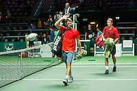 Rotterdam, The Netherlands, February 13, 2016,  ABNAMROWTT, Henri Kontinen (FIN) - John Peers (AUS)<br /> Photo: Tennisimages/Henk Koster