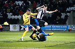 St Mirren v St Johnstone…..04.03.20   Simple Digital Arena   SPFL<br />Michael O'Halloran is blocked by Conor McCarthy and Vaclav Hladky<br />Picture by Graeme Hart.<br />Copyright Perthshire Picture Agency<br />Tel: 01738 623350  Mobile: 07990 594431
