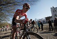 Kenny Dehaes (BEL) up the Kemmelberg<br /> <br /> 3 Days of West-Flanders<br /> stage 2: Nieuwpoort - Ichtegem 186km