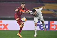 Nuno Sequeira of SC Braga and Stephan El Shaarawy of AS Roma compete for the ball during the Europa League round of 32 2nd leg football match between AS Roma and Braga at stadio Olimpico in Rome (Italy), February, 25th, 2021. Photo Andrea Staccioli / Insidefoto