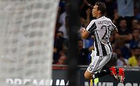 Calcio, Serie A: Inter vs Juventus. Milano, stadio San Siro, 18 settembre 2016.<br /> Juventus' Stephan Lichsteiner celebrates after scoring during the Italian Serie A football match between FC Inter and Juventus at Milan's San Siro stadium, 18 September 2016.<br /> UPDATE IMAGES PRESS/Isabella Bonotto