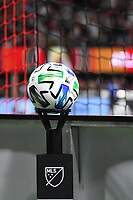 ATLANTA, GA - MARCH 07: ATLANTA, GA - MARCH 07: Atlanta United match ball during the match against FC Cincinnati, which Atlanta won, 2-1, in front of a crowd of 69,301 at Mercedes-Benz Stadium during a game between FC Cincinnati and Atlanta United FC at Mercedes-Benz Stadium on March 07, 2020 in Atlanta, Georgia.