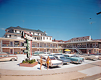 Packard Motel was located in North Wildwood, New Jersey.  Daytime Exterior, 1960's