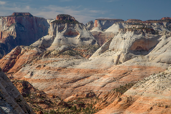 The Eastside of Zion National Park as seen from the top of Checkerboard Mesa