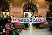 """16.01.2016 - """"St Pancras Emergency Die-in: Open the Border Now"""""""