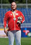 Kenneth Trudgeon, Toronto 2015 - Para Athletics // Para-athlétisme.<br /> Kenneth Trudgeon receives his Bronze Medal for Men's Shot Put F46 // Kenneth Trudgeon reçoit sa médaille de bronze pour le lancer du poids masculin F46. 11/08/2015.
