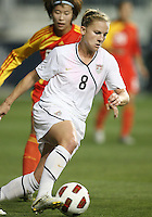 Amy Rodriguez #8 of the USA WNT during an international friendly match against the PRC WNT at PPL Park, on October 6 2010 in Chester, PA.The game ended in a 1-1 tie.