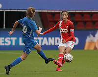 Standard's Maurane Marinucci (7) gives a pass during a female soccer game between Standard Femina de Liege and KRC Genk Ladies  on the third matchday of the 2020 - 2021 season of Belgian Womens Super League , Saturday 3 rd of October 2020  in Liege , Belgium . PHOTO SPORTPIX.BE   SPP   SEVIL OKTEM