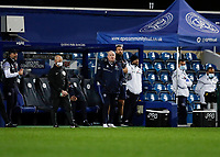 17th February 2021; The Kiyan Prince Foundation Stadium, London, England; English Football League Championship Football, Queen Park Rangers versus Brentford; Queens Park Rangers Manager Mark Warburton looks on from the touchline