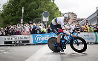 stage winner and first 'Maglia Rosa' of the 2021 Giro is TT World Champion Filippo Ganna (ITA/INEOS Grenadiers)<br /> <br /> 104th Giro d'Italia 2021 (2.UWT)<br /> Stage 1 (ITT) from Turin to Turin (8.6 km)<br /> <br /> ©kramon