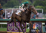 """June 27, 2015: Hard Aces with Victor Espinoza up with the Grade I """"Win and You're In"""" Gold Cup at Santa Anita Park in Arcadia, California. Zoe Metz/ESW/CSM"""