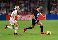 ORLANDO, FL - MARCH 05: Carli Lloyd #10 of the United States dribbles during a game between England and USWNT at Exploria Stadium on March 05, 2020 in Orlando, Florida.