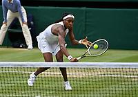 3rd July 2021; Wimbledon, SW London. England; Wimbledon Tennis Championships, day 6;  Coco Gauff , USA