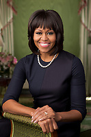 WASHINGTON - FEBRUARY 2013: First Lady Michelle Obama poses for the official portrait in the White House in Washington, DC.<br /> <br /> People:  First Lady Michelle Obama<br /> <br /> Transmission Ref:  FLXX<br /> <br /> Must call if interested<br /> Michael Storms<br /> Storms Media Group Inc.<br /> 305-632-3400 - Cell<br /> 305-513-5783 - Fax<br /> MikeStorm@aol.com<br /> www.StormsMediaGroup.com