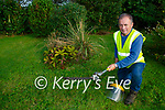 Tom McCarthy working on the Rural Social Scheme in Currow village
