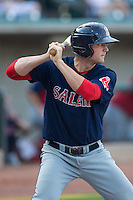 Sam Travis (34) of the Salem Red Sox at bat against the Winston-Salem Dash at BB&T Ballpark on June 18, 2015 in Winston-Salem, North Carolina.  The Red Sox defeated the Dash 8-2.  (Brian Westerholt/Four Seam Images)