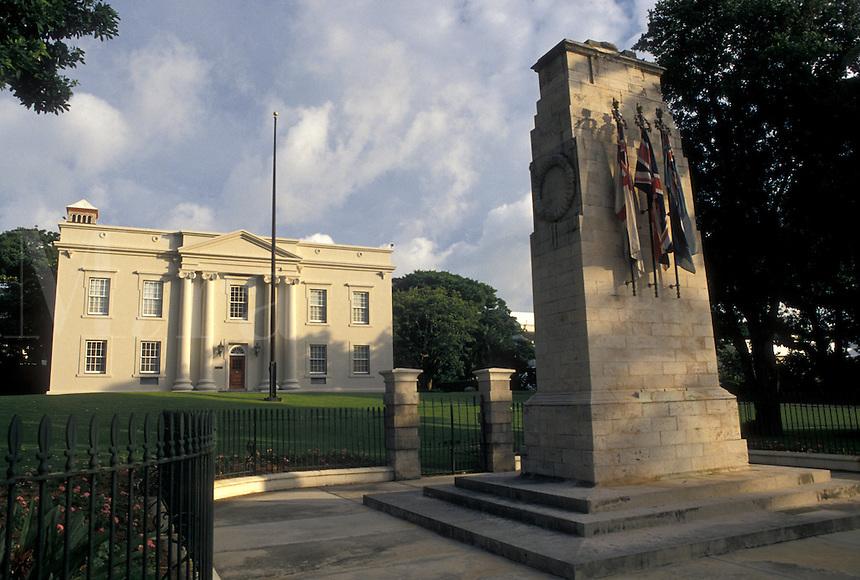 Bermuda, Hamilton, The Cabinet Building and Senate Chamber in the town of Hamilton in Bermuda.