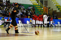 MANIZALES -COLOMBIA, 30-09-2013. Aspecto del partido entre Manizales Once Caldas y Caribbean Heat Cartagena en la fecha 21 Liga DirecTV de Baloncesto 2013-II de Colombia jugado en el coliseo Jorge Arango de la ciudad de Manizales./ Aspect of match between Manizales Once Caldas and Caribbean Heat Cartagena on the 21th date of DirecTV Basketball League 2013-II in Colombia at Jorge Arango coliseum in Manizales. Photo:VizzorImage / Yonboni / STR