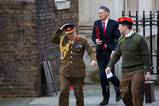 General Sir David Richards (Chief of the Defence Staff) and Philip Hammond (Secretary of State for Defence).<br />