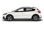 Car Driver side profile view of a 2019 Ford Focus Active 5 Door Hatchback Side View