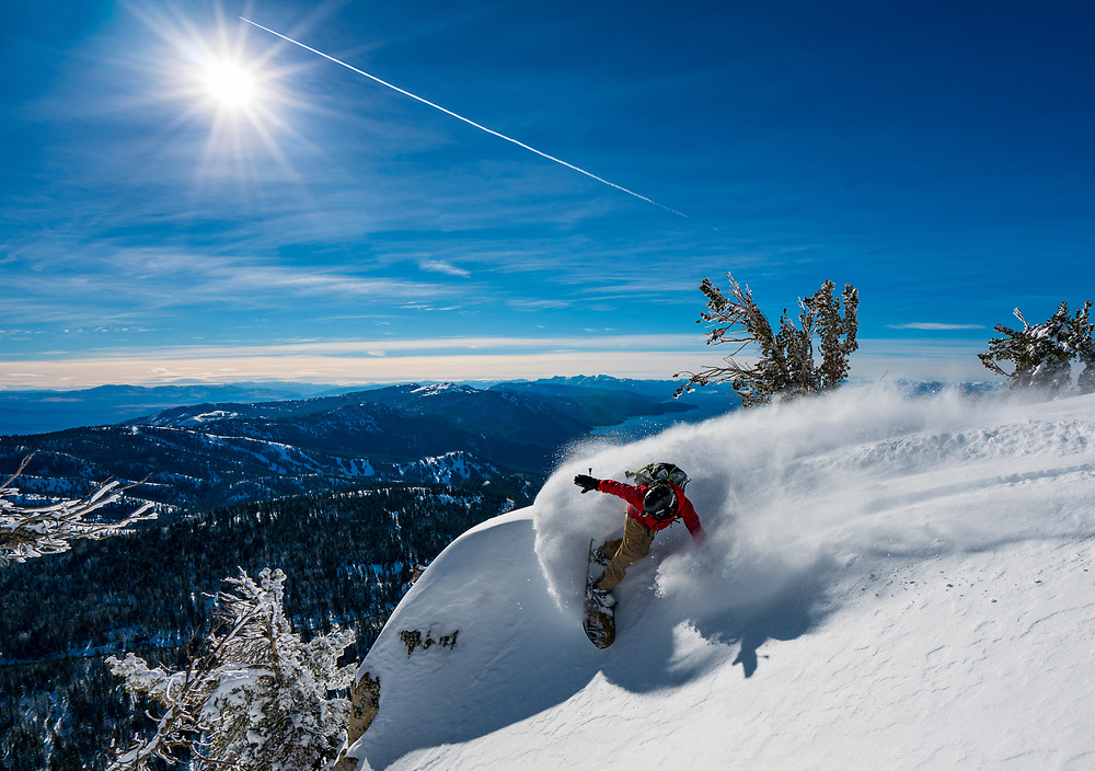 Jeremy Jones has the best turn in snowboarding. Here he's demonstrating in the Tahoe Backcountry.