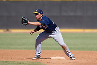 Milwaukee Brewers second baseman Keston Hiura (25) during an Instructional League game against the San Diego Padres on September 27, 2017 at Peoria Sports Complex in Peoria, Arizona. (Zachary Lucy/Four Seam Images)