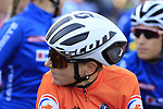 Annemiek Van Vleuten (NED) on the start line of the Women Elite Road Race of the UCI World Championships 2019 running 149.4km from Bradford to Harrogate, England. 28th September 2019.<br /> Picture: Eoin Clarke | Cyclefile<br /> <br /> All photos usage must carry mandatory copyright credit (© Cyclefile | Eoin Clarke)