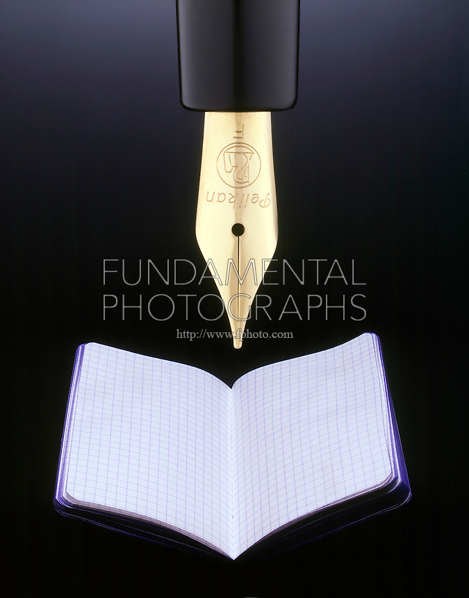 FOUNTAIN PEN AND NOTEBOOK<br /> Conceptual Image of Pen and Paper