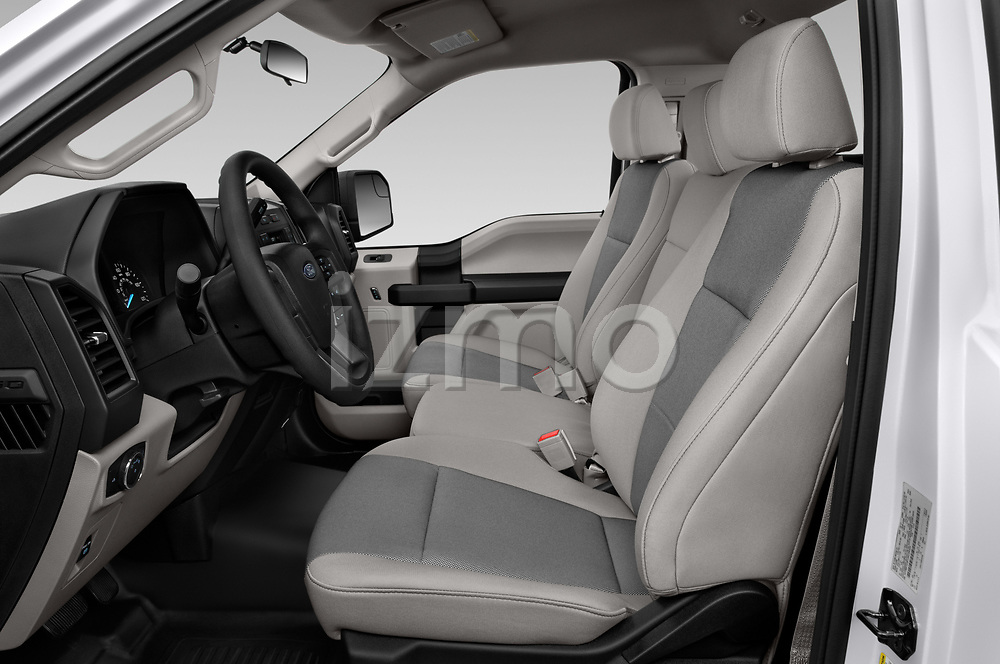 Front seat view of a 2018 Ford F-150 XLT 4 Door Pick Up front seat car photos