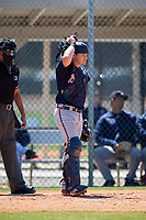 Atlanta Braves Zack Soria (11) during a Minor League Spring Training game against the Detroit Tigers on March 22, 2018 at the TigerTown Complex in Lakeland, Florida.  (Mike Janes/Four Seam Images)