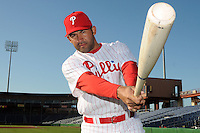 Feb 20, 2009; Clearwater, FL, USA; The Philadelphia Phillies infielder Miguel Cairo (10) during photoday at Bright House Field. Mandatory Credit: Tomasso De Rosa/ Four Seam Images