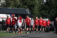 TUKWILA, WA - NOVEMBER 08: Toronto FC players head to training at Starfire Sports Complex on November 08, 2019 in Tukwila, Washington.