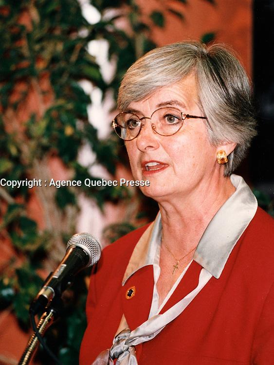 Martha Stewart Mars 1999<br /> <br /> PHOTO :  Agence Quebec Presse