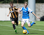 East Fife v St Johnstone…29.07.17… Bayview… Pre-Season Friendly<br />Scott Tanser holds off Nathan Flanagan<br />Picture by Graeme Hart.<br />Copyright Perthshire Picture Agency<br />Tel: 01738 623350  Mobile: 07990 594431