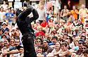 23/08/12 - AURILLAC - CANTAL - FRANCE - 27e Festival de Theatre de rue d Aurillac. ECLAT 2012. GIGN par la troupe Carnage Productions - Photo Jerome CHABANNE