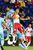 Harrison, NJ - Thursday Sept. 15, 2016: Alexander Larin Hernandez, Gonzalo Veron during a CONCACAF Champions League match between the New York Red Bulls and Alianza FC at Red Bull Arena.