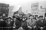Mark Hosenball and Philip Agee Must Stay demonstration Trafalgar Square London 1976.