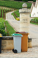 gate post chateau pavie saint emilion bordeaux france